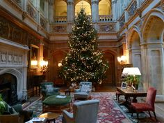 Christmas Tree at HIghclere Castle - Downton Abbey 2016