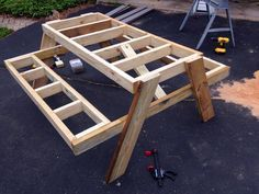 Building an easy DIY picnic table