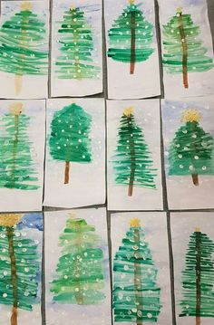 Christmas Crafts for Kids Preschool Christmas, Christmas Activities, Christmas Crafts For Kids, Winter Christmas, Holiday Crafts, Christmas Cards, Christmas Decorations, Christmas Trees, Xmas Tree