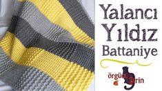 Çok Kolay Yalancı Yıldız Battaniye / Battaniye Modelleri Crochet Pouf, Manta Crochet, Baby Blanket Crochet, Crochet Baby, Crochet Bedspread Pattern, Crochet Patterns, Star Wars, Bed Spreads, Brick Stitch