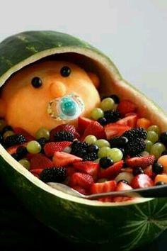 Decoracion de ensalada de frutas