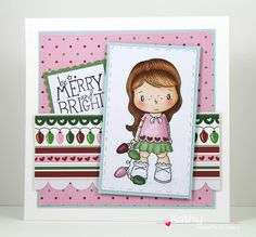 CC Designs, Lucy with lights, Jolly Christmas sentiments, Rectangles #1 die, Big Scalloped Squares Die, Squares #1 Die, Merry Christmas pad