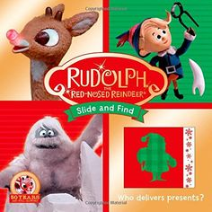 Whose nose glows? Who delivers presents? Children will love to interact with this early learning  Slide and Find board book. With 14 sliding doors to open up, children will discover holiday pictures hidden underneath. Based off the classic television show, Rudolph the Red-Nosed Reindeer.  Celebrate the 50th anniversary of this iconic television classic, which has aired every year since 1964, making it the longest-running Christmas TV special in history. Remember together, read together.