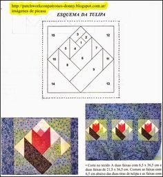 Best ideas for patchwork quilt diy paper piecing Patchwork Quilting, Paper Pieced Quilt Patterns, Barn Quilt Patterns, Patchwork Patterns, Foundation Patchwork, Foundation Paper Piecing, Quilting Projects, Quilting Designs, Quilt Modernen