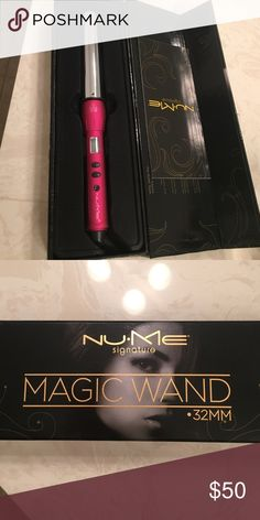 Nume 32MM magic wand pink Used a handful of times. I personally prefer curling with my flatiron so just have no need for this tool. Works quickly and easily as tutorials show. Missing the best glove (I found it hard to use and tossed it), but have box. Nume Accessories Hair Accessories