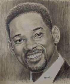 Will Smith pencil portrait. Art Print by Painting by Rybakow - X-Small Portrait Au Crayon, L'art Du Portrait, Pencil Portrait, Abstract Drawings, Art Drawings Sketches, Pencil Drawings, Graphic Design Print, Graphic Design Services, Will Smith