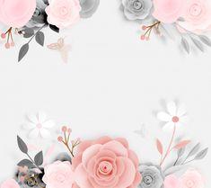 Cute Wallpaper Backgrounds, Flower Backgrounds, Cute Wallpapers, Logo Floral, Flower Logo, Nail Logo, Flower Background Wallpaper, Arte Floral, Floral Border