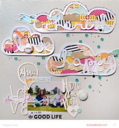 #papercraft #Scrapbook #layout.  The Good Life by @PaigeEvans at @studio_calico