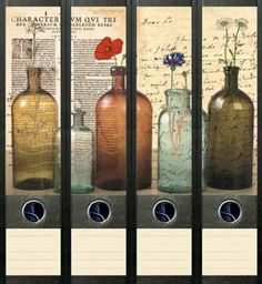 File Art - Design Etiketten - Motiv Bottles - breit: Amazon.de: Bürobedarf & Schreibwaren