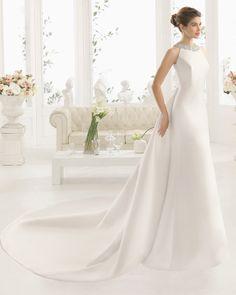 ORNELA vestido de novia Aire Barcelona 2017