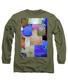 Long Sleeve T-Shirt - Purple Squares