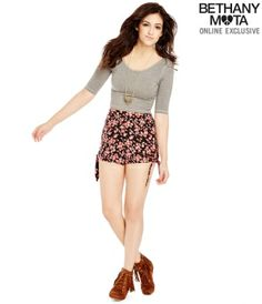 Solid Scoop-Back Crop Top - Summer Bethany Mota Collection