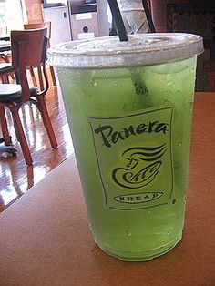 My favorite Panera drink...iced green tea infused with passion fruit and papaya