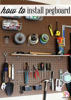 How to Hang Pegboard
