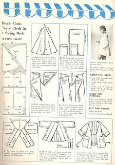 from Smart Sewing Magazine, 2nd edition, 1950    the pattern calls for terrycloth.  I would just use towels