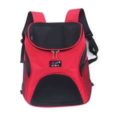 cat Carrier ,Feeto cat Cat Dog Backpack Mesh Up Pack Outdoor Travel Carrier Bag with Double Shoulder Strap * Can't believe it's available, see it now : Cat Cages, Carrier and Strollers