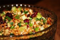 Post image for WHEAT BERRY SALAD WITH PECANS AND CRAISINS