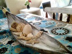 *Xô depressão*: artesanato centro de mesa feito com folha de coqueiro