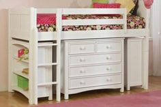 Modern White Beds for Kids Boys and Girls