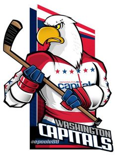 (Eric Poole) may not be a Capitals fan, but he is a fan of their retro unis.SO close to using this artwork in the next round. Hockey Logos, Nhl Logos, Hockey Games, Ice Hockey, Hockey Drawing, Capitals Hockey, Hockey Season, Team Mascots, Nhl Players