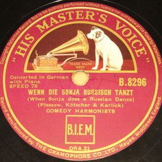 """""""Happy New Year Auction"""" startprice 9,99 Euro #78rpm #Schellackplatte COMEDIAN HARMONISTS  Wenn die Sonja Russisch tanzt  Berlin 1934 HMV Near MINT!"""