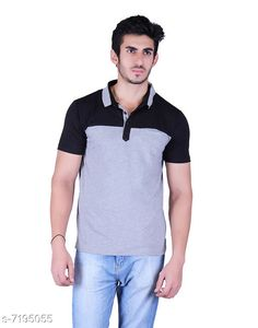 Tshirts Men's collar check black gray Tshirt Fabric: Cotton Sleeve Length: Short Sleeves Pattern: Solid Multipack: 1 Sizes: S (Chest Size: 39 in Length Size: 27.5 in)  XL (Chest Size: 45 in Length Size: 29 in)  L (Chest Size: 43 in Length Size: 28.5 in)  M (Chest Size: 41 in Length Size: 28 in)  XXL (Chest Size: 47 in Length Size: 29.5 in) Country of Origin: India Sizes Available: S, M, L, XL, XXL, XXXL   Catalog Rating: ★4.2 (498)  Catalog Name: Fancy Retro Men Tshirts CatalogID_1148441 C70-SC1205 Code: 853-7195055-999