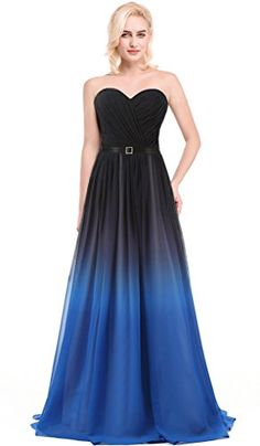 Aurora-Bridal-Womens-2016-Ombre-Chiffon-Straps-Long-Bridesmaid-Dress-Ocean-20W