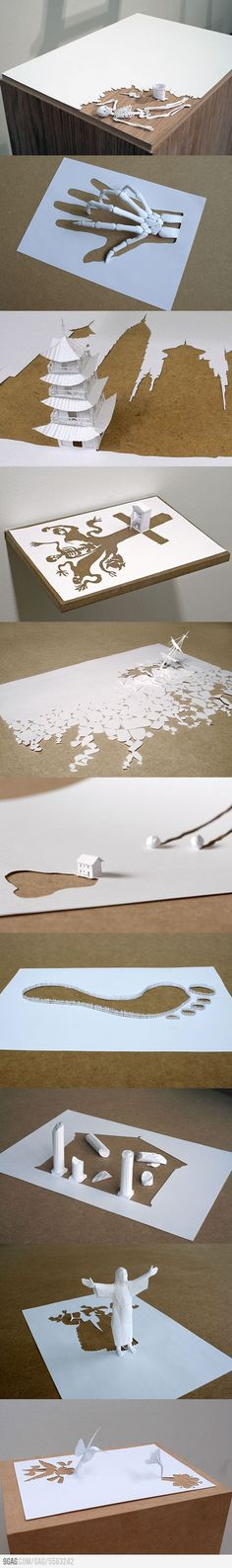 Paper art by Peter Callesen