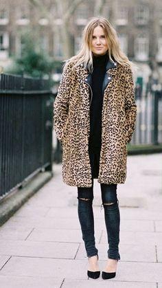 Cheetah Coat + Black Heel