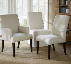 Upholstered Dining Room Chairs With Arms: A Wise Choice for Your ABode upholstered dining room chairs with arms pb comfort square upholstered dining chairs . Kitchen Table Chairs, Dining Room Chairs, Table And Chairs, Side Chairs, Desk Chairs, Wooden Chairs, Room Kitchen, Lounge Chairs, Kitchen Island