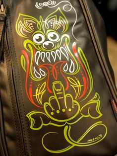 However, If You Are Still Confused, You Should Know That There Are Cool Pinstripe Art Ideas That You Can Try Rat Fink, Dark Fantasy Art, Ed Roth Art, Pinstriping Designs, Car Pinstriping, Pinstripe Art, Garage Art, Paint Stripes, Desenho Tattoo