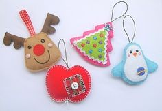 Christmas ornies, a retail product from pakamera.pl (Euro country); picture inspiration for crafts