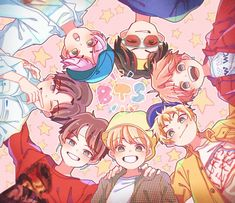 Bts Fanart ❤ If you know who the artist is, please put their @ here! Bts Chibi, Bts Anime, Anime Boys, Fan Art, Fanart Bts, K Wallpaper, Kpop Drawings, Dibujos Cute, Bts Backgrounds