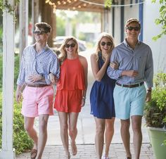 Southern proper dressed couples