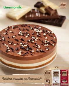 La famosa tarta a los tres chocolates con Thermomix Chocolate Thermomix, Lidl, Sin Gluten, Tiramisu, Food And Drink, Cake, Ethnic Recipes, Sweet, Desserts
