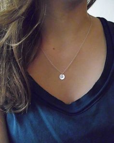 Sterling silver initial necklace personalized silver by AllDanae