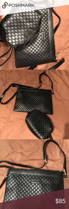 Gucci tote black leather clutch and mini bag Great condition Gucci Bags Totes