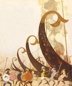 Alice and Martin Provensen - The Iliad and the Odyssey. Tags: trojan war, iliad, odyssey,