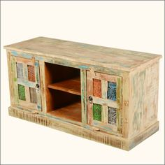 "Rainbow Windows Reclaimed Wood 47"" Media Cabinet"