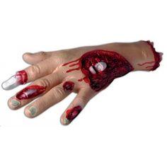 Griezelige Halloween decoratie hand