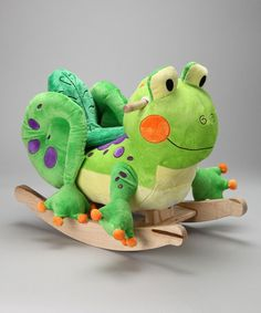 Take a look at this Fergie Frog Rocker by Rockabye on #zulily today!