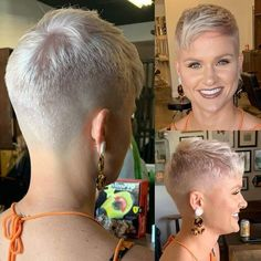 Cool short hair styles best short hair cuts on black women in 2019 Short Grey Hair, Short Hair Cuts For Women, Short Hairstyles For Women, Short Hair Styles, Super Short Pixie Cuts, Short Blonde Pixie, Short Pixie Haircuts, Pixie Hairstyles, Cool Hairstyles