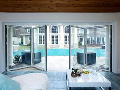 New Pool House Doors from Rev Run's Renovation