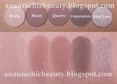 Some swatces by Mac eyeshadows