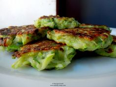 Courgette and Pecorino fritters. Fritters, Sprouts, Tasty, Vegetables, Cooking, Breakfast, Food, Kitchen, Morning Coffee