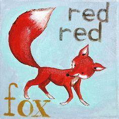 The Red Red Fox- PRINT. $10.00, via Etsy.