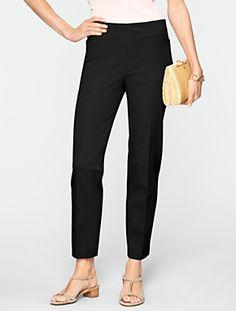 Talbots - Slimming Heritage Cotton Bi-Stretch Ankle Pants | Pants | Petites
