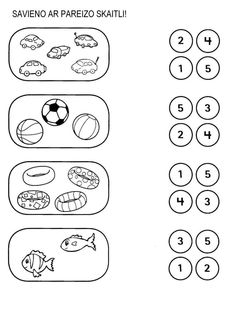 Counting summer fun- Perfect number recognition activity
