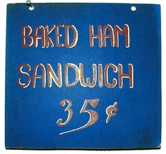 Vintage DINER SIGN 1940s50s hand painted by FISHRAVEN on Etsy, $35.00