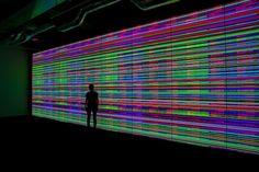 Enter the mind of a machine in Norimichi Hirakawa's massive video sculpture, 'The Indivisible (Prototype No. 1).'